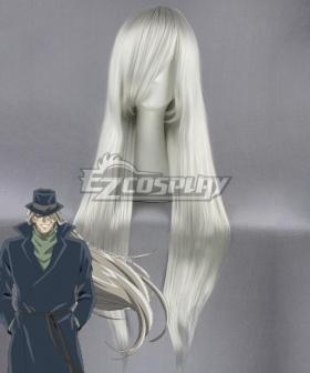 Case Closed Detective Conan Melkior Gin Silver Cosplay Wig