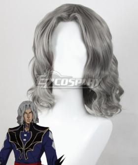 Castlevania Season 3 Netflix 2020 Anime Hector Silver Grey Cosplay Wig