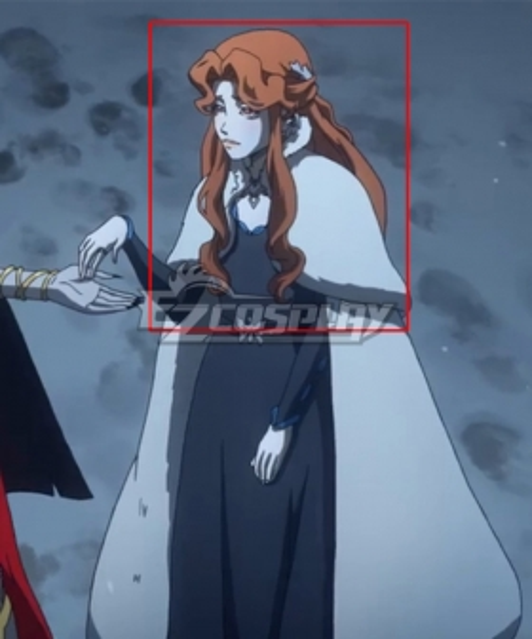 Castlevania Season 3 Netflix 2020 Anime Lenore Orange Cosplay Wig