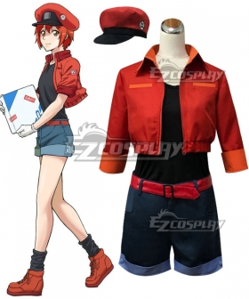Cells At Work Erythrocite Red Blood Cell Cosplay Costume - New Edition