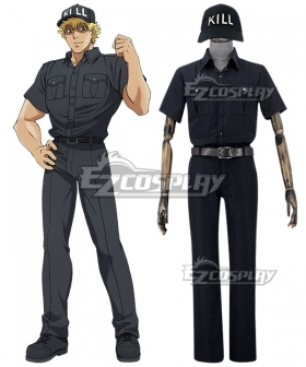 Cells At Work Killer T Cell Cosplay Costume-Black