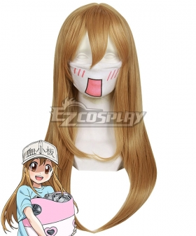 Cells At Work Platelet Light Brown Cosplay Wig 468C