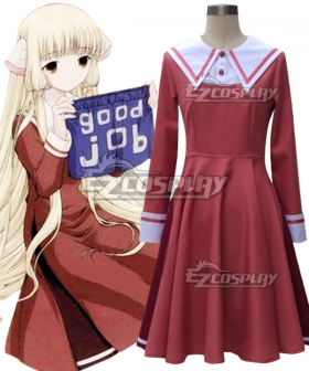 Chobits Chii Pink Uniform Cosplay Costume