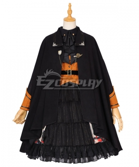 Classic Lolita OP Playing Card Maze Pumpkin Black Long Sleeve Helloween One Piece Lolita Dress