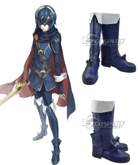 Fire Emblem Awakening Marth Lucina Dark Blue Shoes Cosplay Boots