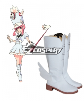 KILL la KILL Nonon Jakuzure White Shoes Cosplay Boots