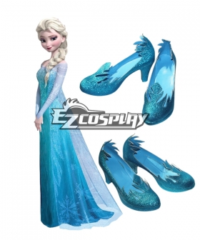 Frozen Elsa Disney Cosplay Shoes