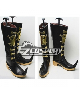Blue Exorcist Ao No Exorcist King Of Earth Amaimon Black Shoes Cosplay Boots