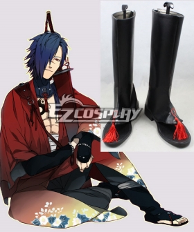 DMMD DRAMAtical Murder Koujaku Black Shoes Cosplay Boots