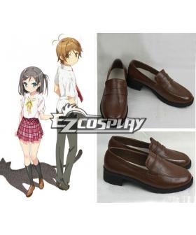 The Hentai Prince and the Stony Cat Tsukiko Tsutsukakushi Brown Cosplay Shoes