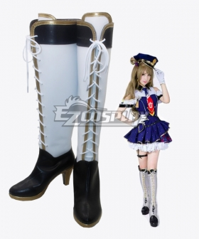 Love Live! School Idol Minami Kotori Policewoman Awaken White Black Boots Cosplay Shoes