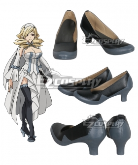 Seraph of the End Vampire Reign Owari no Serafu Horn Skuld Black Cosplay Shoes