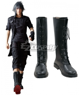 Final Fantasy XV Noct Noctis Lucis Caelum Black Shoes Cosplay Boots