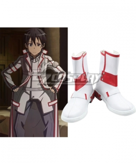 Sword Art Online Kirito White Shoes Cosplay Boots