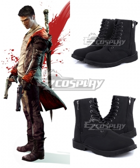 DmC Devil May Cry 5 Dante Black Cosplay Shoes