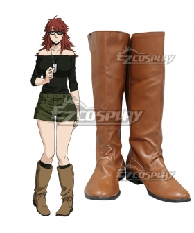 Gangsta Gyangusuta Ginger Shoes Cosplay Boots