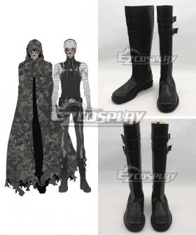 Sword Art Online Gun Gale Online SAO GGO Death Gun Black Shoes Cosplay Boots
