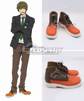 Free! Tachibana Makoto Orange Cosplay Shoes