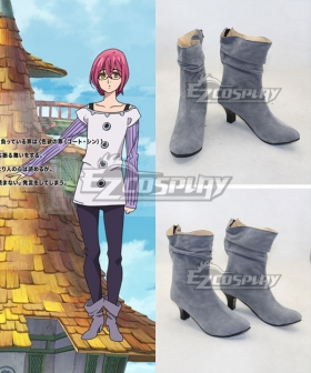 The Seven Deadly Sins Nanatsu no Taizai Gowther Goat's Sin Gray Cosplay Shoes