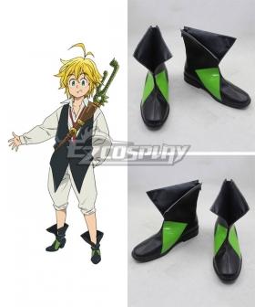 The Seven Deadly Sins Nanatsu no Taizai Meliodas Dragon's Sin of Wrath Black Cosplay Shoes