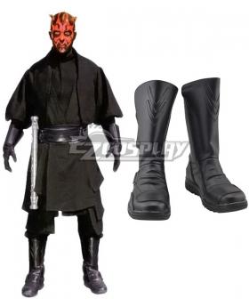 Star Wars Darth Maul Black Shoes Cosplay Boots - B Edition