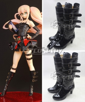 Gatchaman Crowds Load Galax Black Cosplay Boots