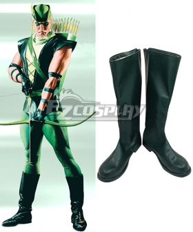 Marvel Green Arrow Comics Oliver Queen Green Shoes Cosplay Boots
