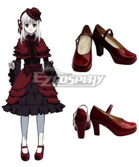 K Anna Kushina Red Cosplay Shoes