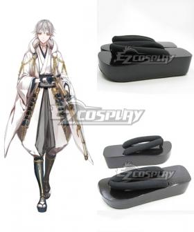 Touken Ranbu Tsurumaru Kuninaga Black Cosplay Shoes