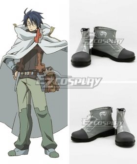 Log Horizon Shiroe Silver Cosplay Shoes