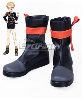Touken Ranbu Hakata Toushirou Black Cosplay Shoes Boots