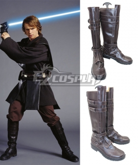 Star Wars Anakin Skywalker Darth Vader Brown Shoes Cosplay Boots