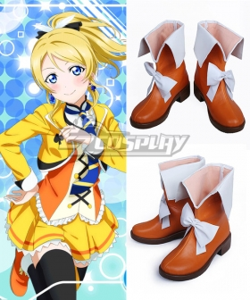 Love Live! Lovelive! School Idol Festival Sunny Day Song Eli Ayase Orange Shoes Cosplay Boots