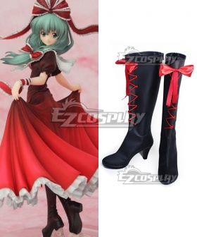 Touhou Project Kagiyama Hina Black Shoes Cosplay Boots