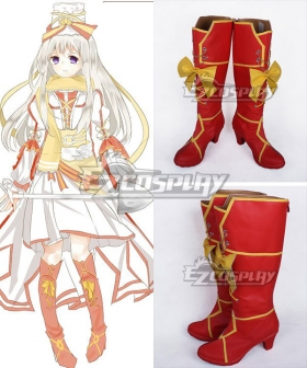 Axis Powers Hetalia Russia Anya Braginskaya Red Shoes Cosplay Boots