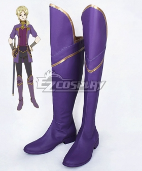 Snow White with the Red Hair/Kagami no Shirayukihime Kiki Seiran Purple Shoes Cosplay Boots