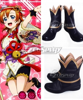 LoveLive! School Idol Festival Honoka Kousaka Dark Purple Cosplay Shoes