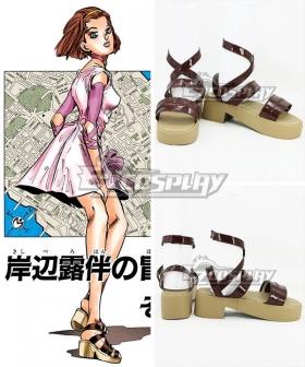 JoJo's Bizarre Adventure Diamond Is Unbreakable Reimi Sugimoto Brown Cosplay Shoes