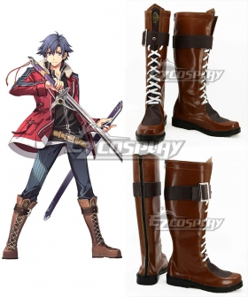 The Legend of Heroes Trails of Cold Steel Rean Schwarzer Brown Shoes Cosplay Boots