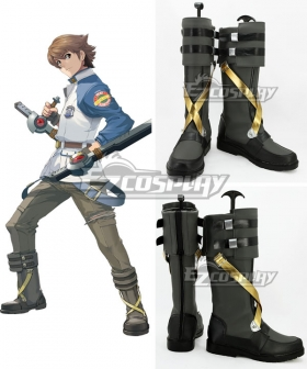 The Legend of Heroes VII Zero no Kiseki Lloyd Bannings Dark green Shoes Cosplay Boots