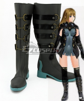 God Eater 2 Protagonist Female Black Shoes Cosplay Boots