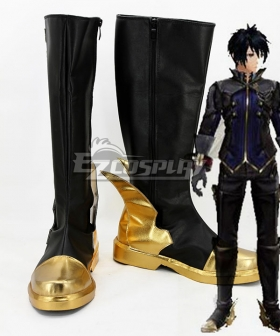 God Eater 2 Protagonist Male Black Shoes Cosplay Boots