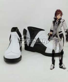 God Eater 2 Protagonist Male White Cosplay Shoes