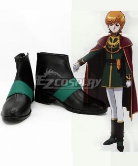 Mobile Suit Gundam Unicorn Audrey Burne Black Cosplay Shoes