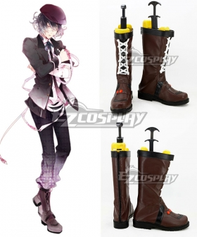 Diabolik Lovers More Blood Mukami Azusa Brown Shoes Cosplay Boots - B Edition