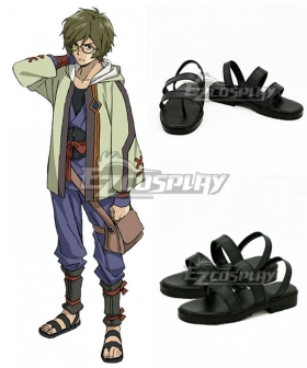 Kabaneri of the Iron Fortress Ikoma Black Cosplay Shoes