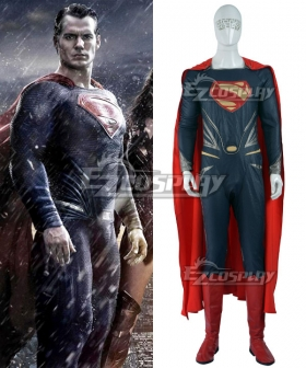 DC Comics Batman v Superman: Dawn of Justice Superman Clark Kent Red Shoes Cosplay Boots