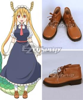 Miss Kobayashi's Dragon Maid Tohru Brown Cosplay Shoes