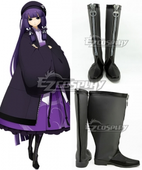 XBlaze Code Embryo Mei Amanohokosaka Black Shoes Cosplay Boots