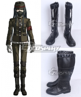 Danganronpa V3: Korekiyo Shinguji Black Shoes Cosplay Boots